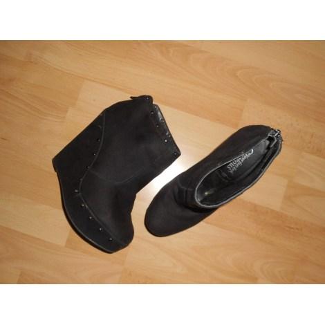 40 New Look À Noir amp; Compensés Low Boots Bottines 7584658 wqaS7gq