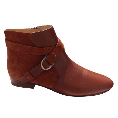 Bottines low boots plates comptoir des cotonniers 37 marron 7598142 - Bottine comptoir des cotonniers ...