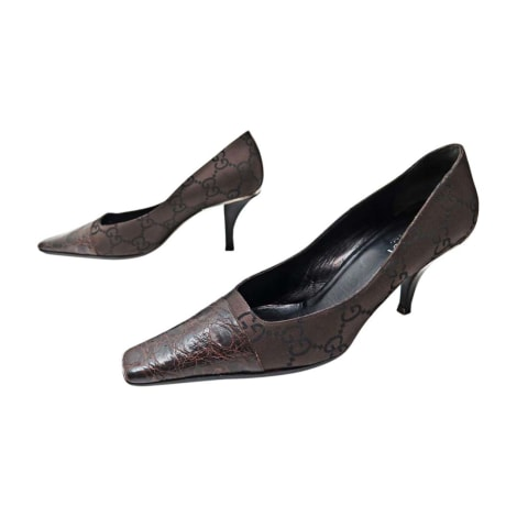 Pumps, Heels GUCCI 38,5 brown very good sold by encherexpert - paris ... dc325352cd5