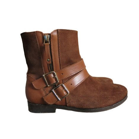 Flat Ankle Boots SÉZANE Beige, camel