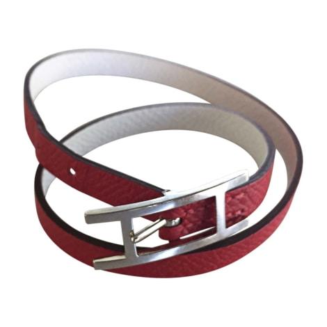 00c99d9af180 Bracelet HERMÈS rouge et blanc vendu par Joëlle 1111 - 7626243