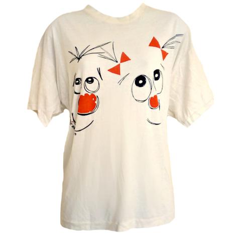 Tee-shirt VINTAGE Blanc, blanc cassé, écru