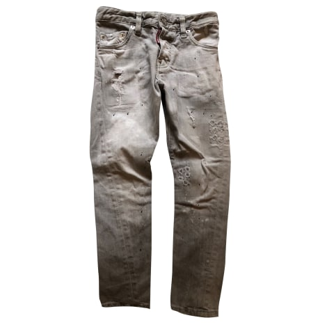 Jean slim DSQUARED2 Grigio, antracite