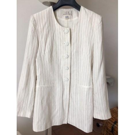 Tailleur jupe 1.2.3 Blanc, blanc cassé, écru