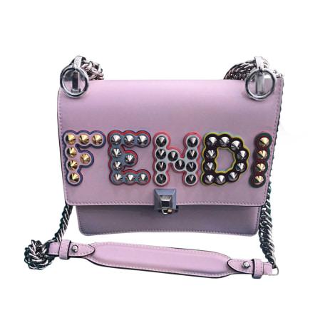 Leather Handbag FENDI Pink, fuchsia, light pink