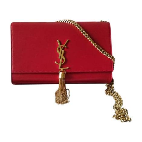 Leather Shoulder Bag YVES SAINT LAURENT Red, burgundy
