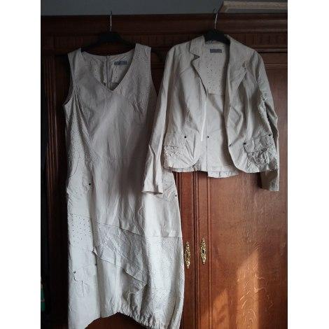 Robe mi-longue POUSSIÈRE D'ÉTOLE Blanc, blanc cassé, écru