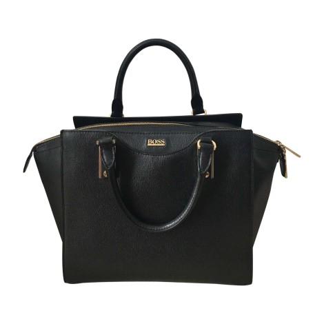 Leather Handbag HUGO BOSS Black