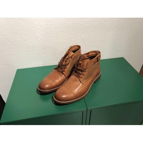 Stiefeletten Ankle Boots Gk Mayer 44 Beige Neu Ohne Etikett