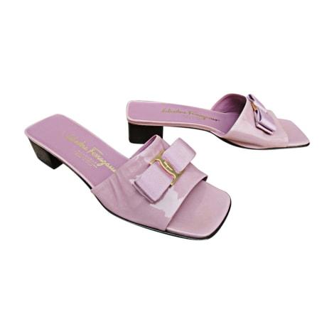 Sandales à talons SALVATORE FERRAGAMO Violet, mauve, lavande