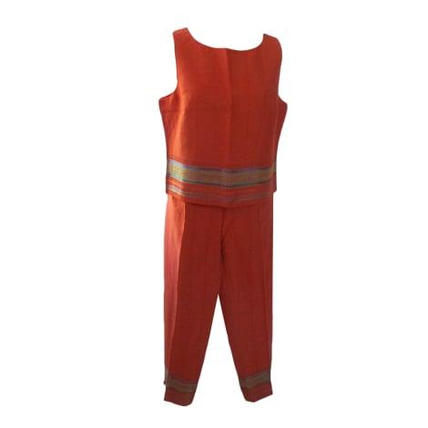 Tailleur pantalon ALAIN MANOUKIAN Orange