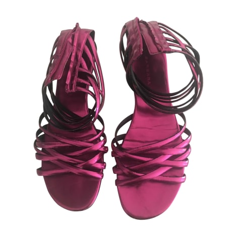 Flat Sandals BARBARA BUI Pink, fuchsia, light pink