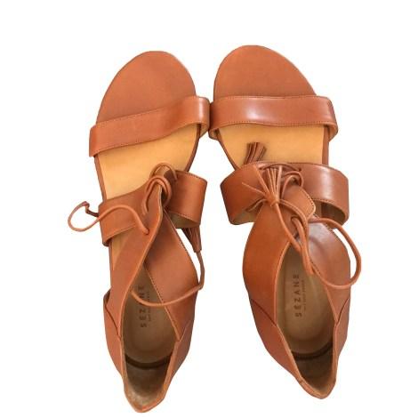 Flat Sandals SÉZANE Camel