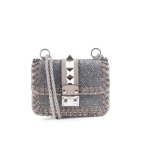 Leather Handbag VALENTINO Silver