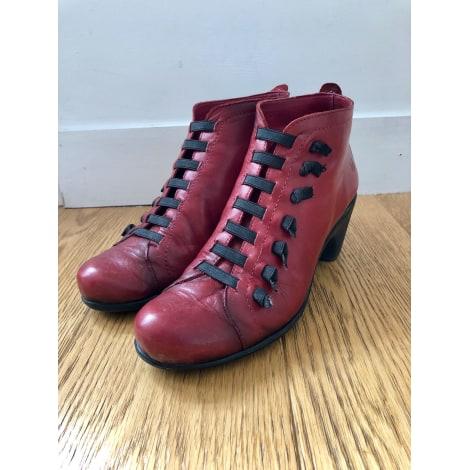 saenz stivaletto rosso scarpe donna stringata