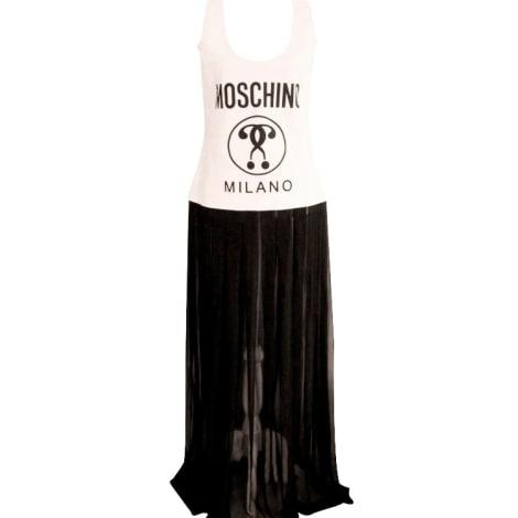 Robe longue MOSCHINO weiß - schwarz