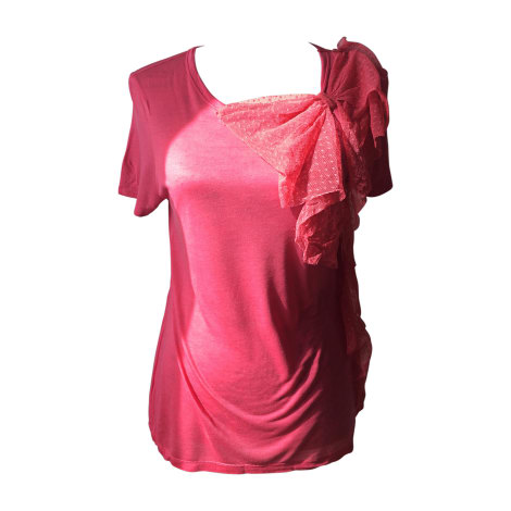 Top, tee-shirt RED VALENTINO Rose, fuschia, vieux rose