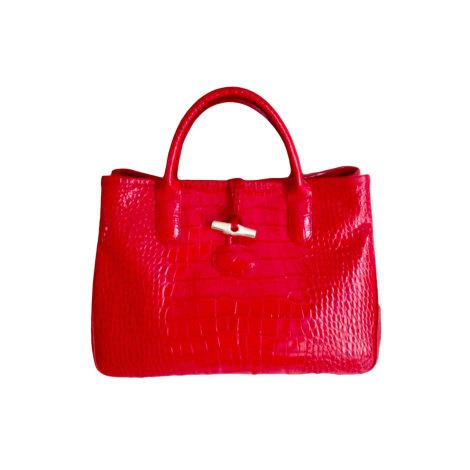 Longchamp Handbag Condition Intense Venduto Red Good Very da Leather tHzrWtTwRq