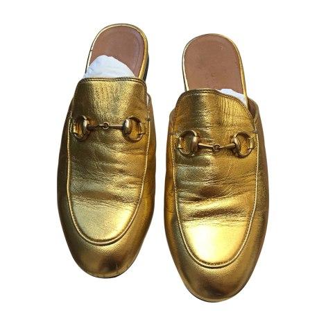 Slippers GUCCI Golden, bronze, copper