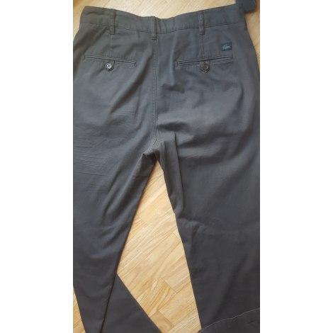 Pantalon droit LACOSTE Marron