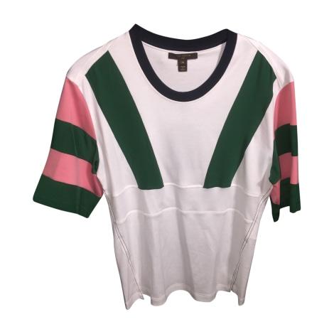 Top, T-shirt LOUIS VUITTON White, off-white, ecru