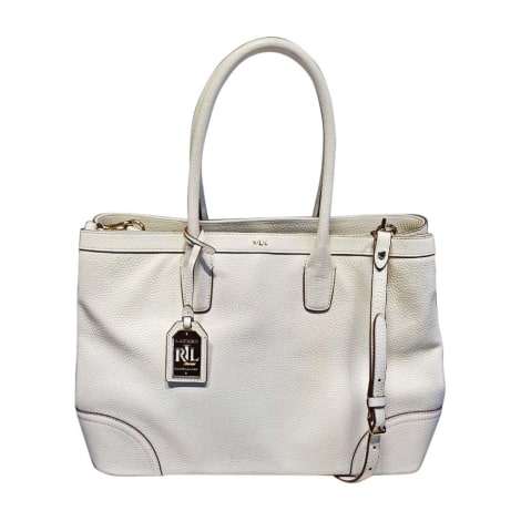9dad8f1d6d8f Leather Handbag RALPH LAUREN white - 7840295