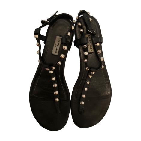 Flat Sandals BALENCIAGA Black