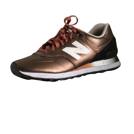 Sneakers NEW BALANCE Golden, bronze, copper