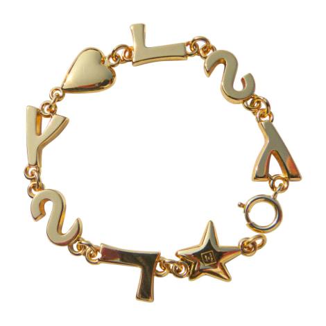 Bracelet YVES SAINT LAURENT Downtown Golden, bronze, copper