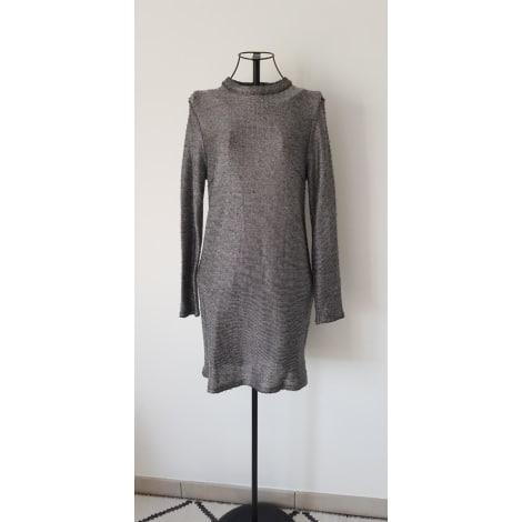 Robe courte TOPSHOP Argenté, acier