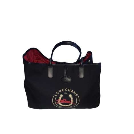 New Venduto Poupi Condition Longchamp Handbag Cloth da Blue TxqqwRg1