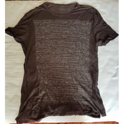 Tee-shirt ALL SAINTS Gris, anthracite