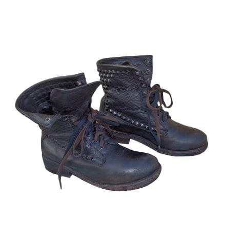 Bottines & low boots motards ASH Noir