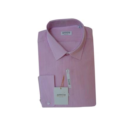 Hemd ARROW 43/44 (XL) rayure rose et blanche - 7958417