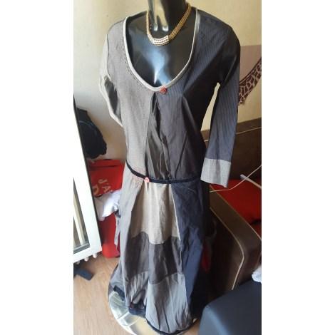 Robe longue DESIGUAL Gris, anthracite