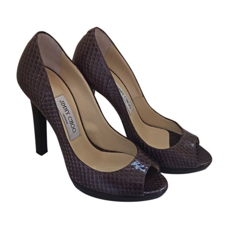 Escarpins à bouts ouverts JIMMY CHOO Marron