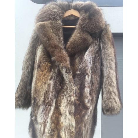 0c21ea432dfdfa Cappotto in pelliccia VINTAGE 38 (M, T2) beige buone condizioni venduto da  Manouk 660 - 8055312