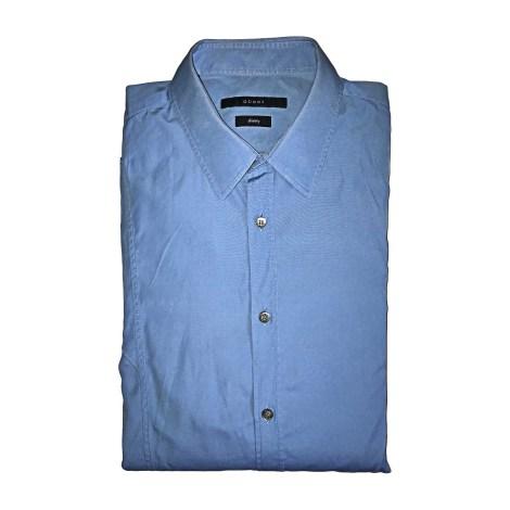 Chemise GUCCI Bleu, bleu marine, bleu turquoise