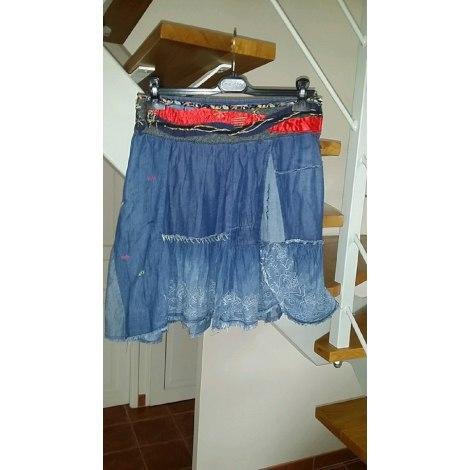 Jupe en jean DESIGUAL Bleu, bleu marine, bleu turquoise