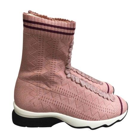 Sneakers FENDI Pink, fuchsia, light pink