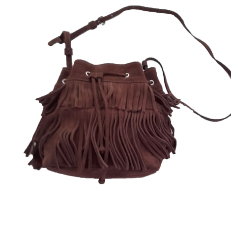 Leather Shoulder Bag GERARD DAREL camel foncé