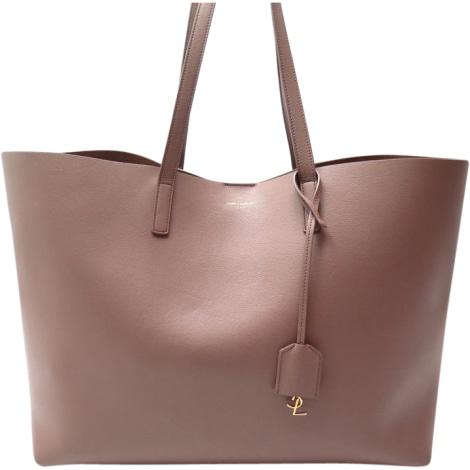 Leather Handbag YVES SAINT LAURENT Pink, fuchsia, light pink