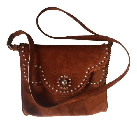 Leather Handbag SANDRO Brown