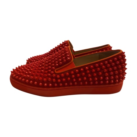Sneakers CHRISTIAN LOUBOUTIN Red, burgundy