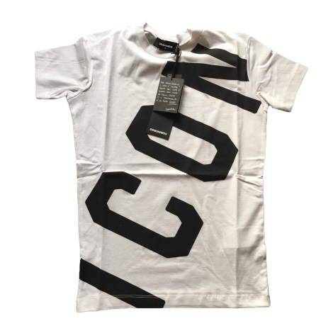 T-shirt DSQUARED2 White, off-white, ecru