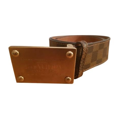 Wide Belt LOUIS VUITTON Brown