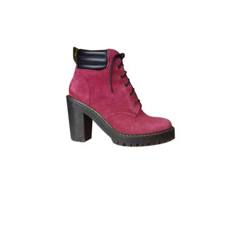 Bottines & low boots à talons DR. MARTENS Rouge, bordeaux