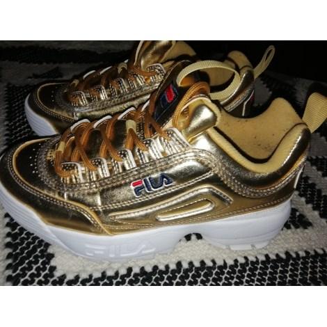fila scarpe tennis dorate