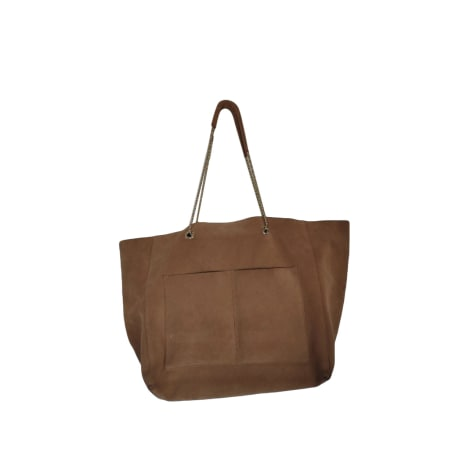 Leather Oversize Bag SÉZANE Beige, camel