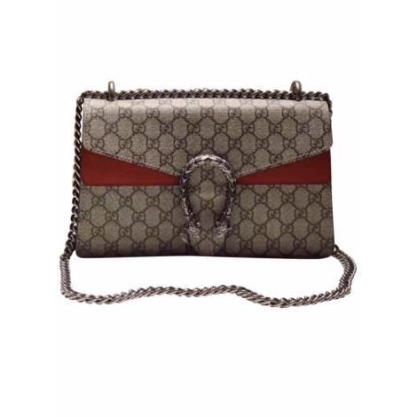Leather Handbag GUCCI Toile rouge